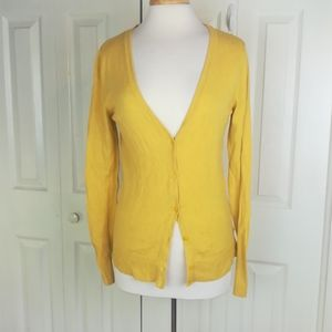 Merona mustard colored button up cardigan
